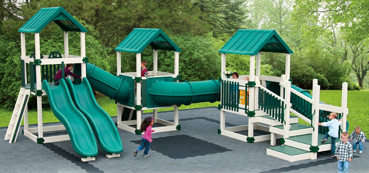 best amish made commercial playground playsets swings slides climbing