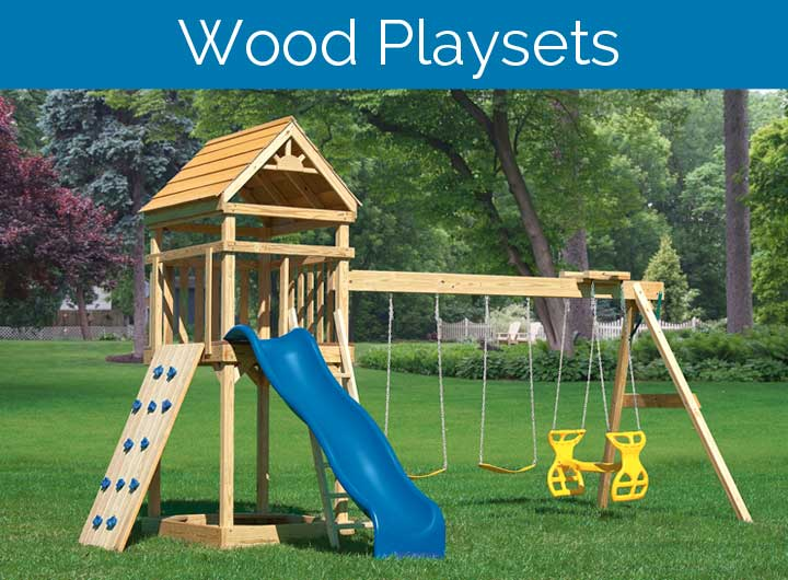 Wood Swing Set:  PH-XL4 Hideout
